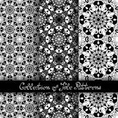 Set of 3 Seamless Vintage Patterns — Cтоковый вектор