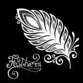 Peerless Decorative Feather — Stock Vector