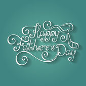Happy Fathers's Day Inscription with Cravat — Cтоковый вектор