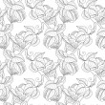 Seamless Monochrome Fruit Pattern — Stock Vector #74884231