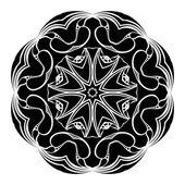 Monochrome contour mandala — Vector de stock