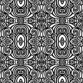 Seamless Abstract monochrome Tribal Pattern — Vector de stock