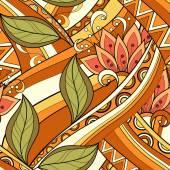 Motivo floreale trasparente colorato — Vettoriale Stock