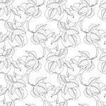 Seamless Monochrome Fruit Pattern — Stock Vector #74895215