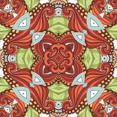 Vector Seamless Abstract Tribal Pattern — Stock Vector