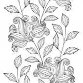 Patrones florales abstractos sin fisuras — Vector de stock