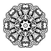 Beautiful Deco Black Mandala — Stock Vector