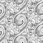 Постер, плакат: Abstract Seamless Monochrome Floral Pattern