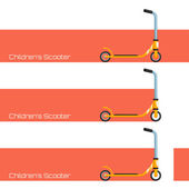 Scooter para niños dos — Vector de stock