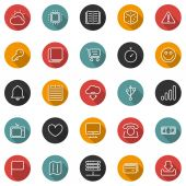 Set of thin lines icons — Stock Vector
