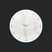 Wall glass clock — Stock Vector