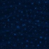 Nachtelijke hemel met sterren — Stockvector