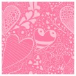 Background with floral and hearts ornament — Stock Vector #53459199
