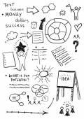 Business creativity doodles — Stock Vector