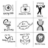 Health care symbols — Stock Vector