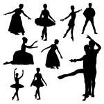ballet siluetas — Vector de stock  #56071045
