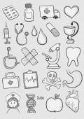 Health care symbols — Stock Vector