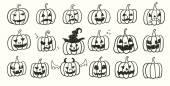 Halloween Pumpkins Set — Vecteur