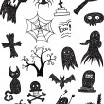 Black Scary Set — Stock Vector #56830277