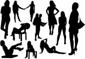People Silhouettes — Stockvector