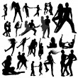 Dancing silhouettes — Stock Vector #61547693