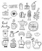 Coffee Doodles — Stock Vector