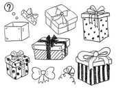 Color Gift Boxes — Stock Vector