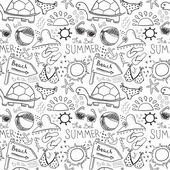 Beach doodles — Stock Vector