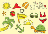 Summer sketches — Stock Vector