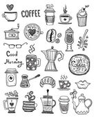 Coffee Doodles  illustration — Stock vektor