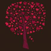 Tree with hearts — Stock Vector
