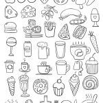Black food doodles — Stock Vector #74461271