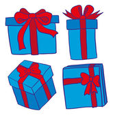Blue gift boxes — Stockvector