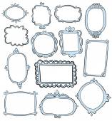 Vintage hand drawn frames — Stock Vector