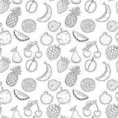 Frutta disegnata a mano nero — Vettoriale Stock