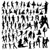 Black people silhouettes — Vector de stock