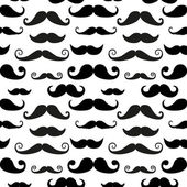 Mustache on white background — Stock Vector