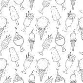 Black Ice Cream signs — Stock Vector
