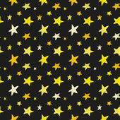 Yellow stars on black background — Stock Vector