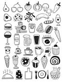 Hand drawn food objects — Stock Vector