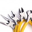Pliers, nippers tool of work isolated on white. — Stock Photo #52498499