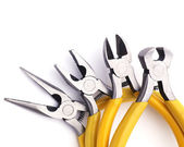 Pliers, nippers tool of work isolated on white. — Stock Photo