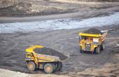 Production useful minerals. the dump truck at mining coal — Stock Photo