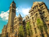Old city hall in gothic style — Foto de Stock