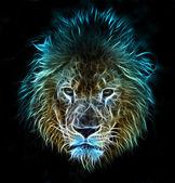 Art of a lion — Stock Photo