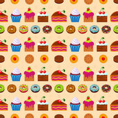 Seamless dessert background. — Stock Vector