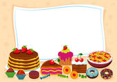 Sweet background. Sweetest day. — Stock Vector