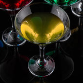 Close up color cocktail in martini glass — Foto de Stock