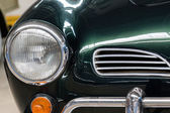 Vintage car headdlight — Stock Photo