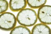 Back lit lemon — Stock Photo